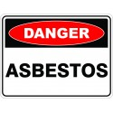 SignViz Powder Coated Metal Danger 45 x 30cm - Asbestos