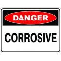 SignViz Powder Coated Metal Danger 45 x 30cm - Corrosive