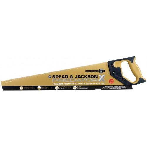 "Spear & Jackson Saw - Hardpoint - Fleam Teeth X - 550mm - 22"" - 8Ppi"