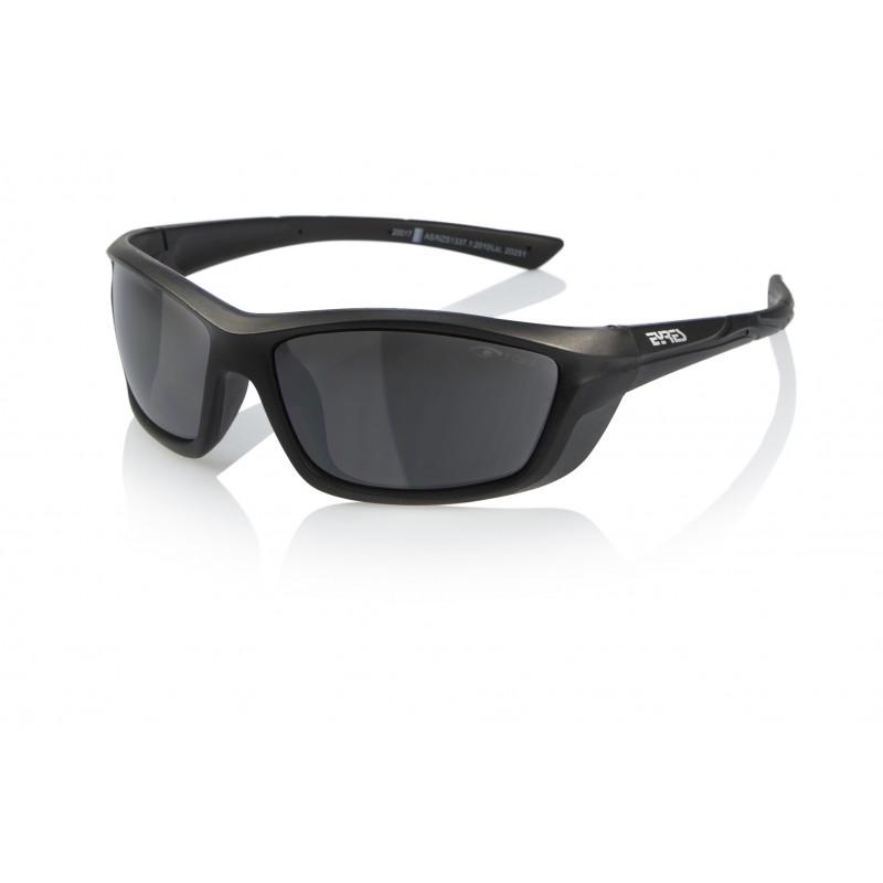 Eyres Motion Matt Black Frame Flash Silver Lens Safety Glasses