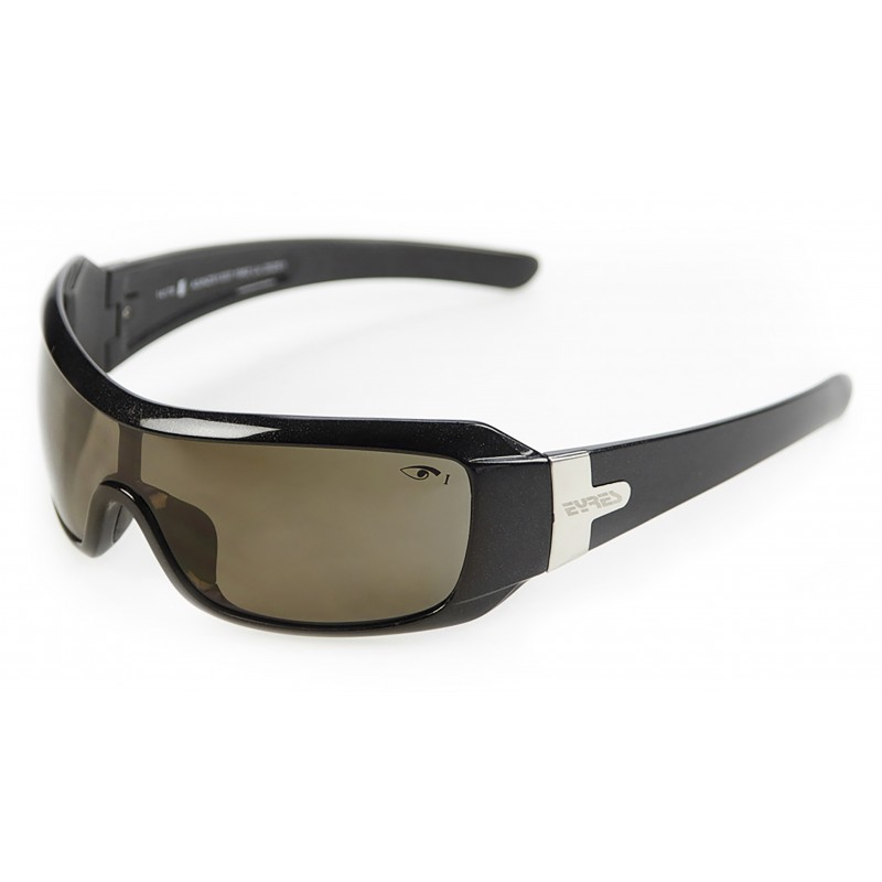 Eyres Daredevil Sapphire Black Polar Brown Lens Safety Glasses