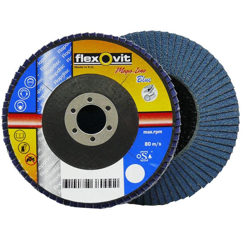 Flexovit Zirconia 40 Grit 125 x 22mm Flap Disc