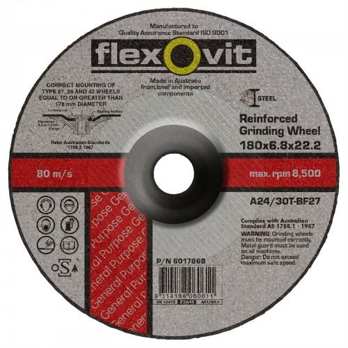 Flexovit 178 x 6 x 22mm Reinforced Grinding Disc