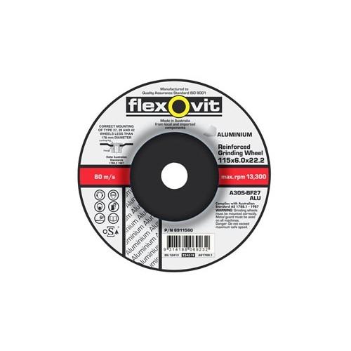 Flexovit 115 x 6 x 22 Metal Aluminium Grinding Disc