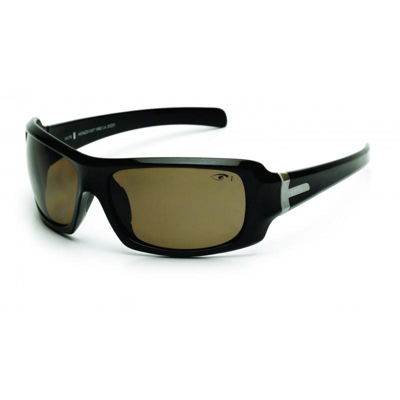 Eyres Hotrod Sapphire Black Polar Brown Fs Lens Safety Glasses
