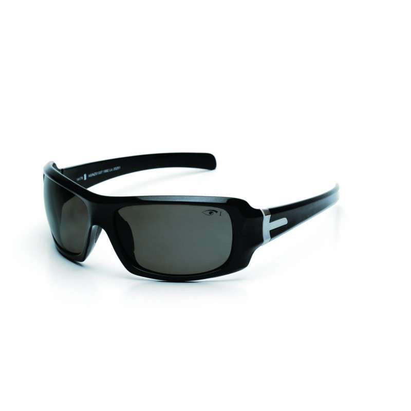 Eyres Hotrod Sapphire Black Polar Smoke Lens Safety Glasses