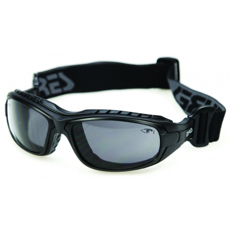 Eyres Oddie Matt Black Frame Grey Lens Safety Glasses
