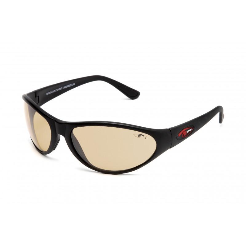 Eyres Yagan Matt Black Frame Light Brown Flash Silver Lens Safety Glasses