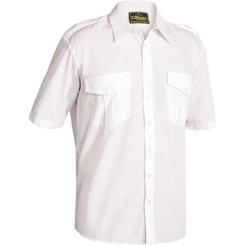 Bisley Epaulette Short Sleeve Shirt