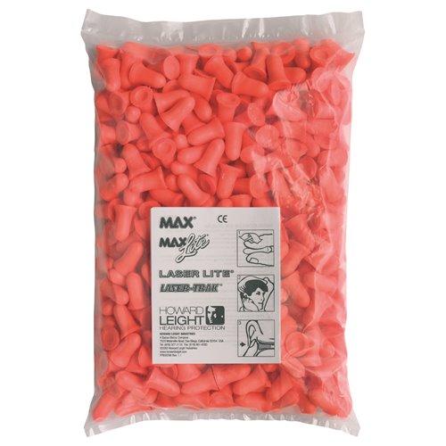 Howard Leight Max MAX-1-D Uncorded LS-500 Dispenser Refill Earplug - Box 500