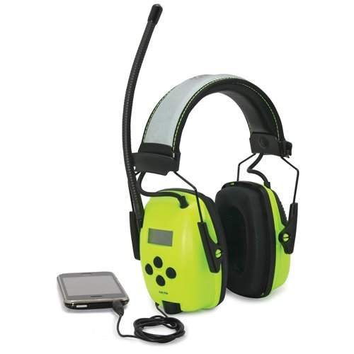 Honeywell Hi-Vis Radio Digital Tuning AM/FM 26dB Class 5 Earmuffs