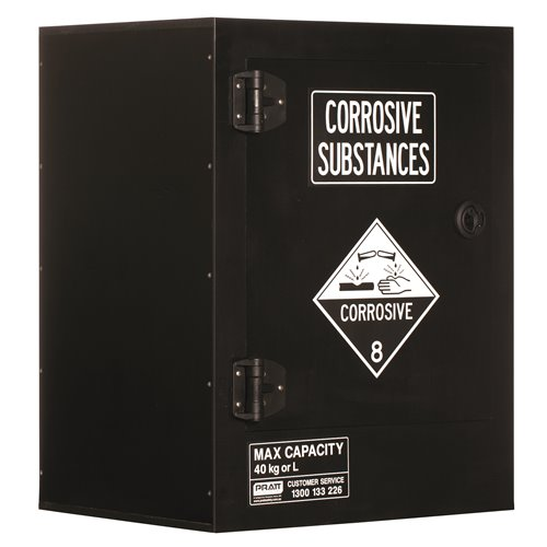 Pratt  Cabinet DG Corrosive Polyethylene 40L 770 x 600 x 466mm 1 Shelf