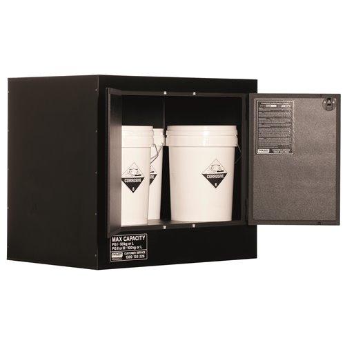 Pratt  Cabinet DG Corrosive Polyethylene 110L 700 x 1000 x 600mm 2 Shelf