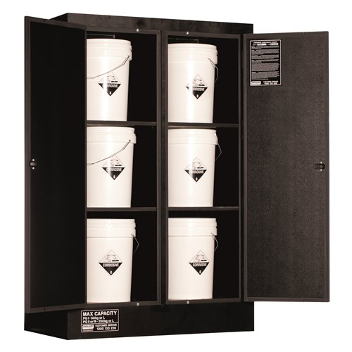 Pratt  Cabinet DG Corrosive Polyethylene 250L 1550 x 1000 x 600mm 6 Shelf