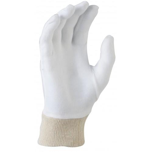 MaxiSafe Cotton Interlock - knitted wrist Glove