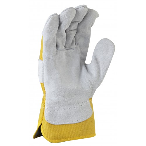 MaxiSafe Workman Yellow cotton back Glove