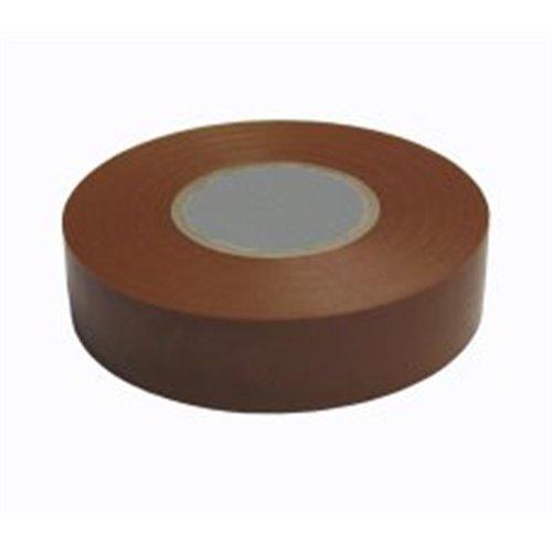 Wattmaster 18mm x 20m 0.15mm Brown Electrical PVC Tape