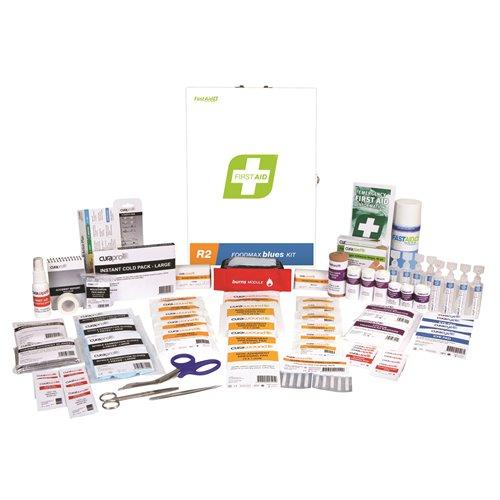 FastAid R2 Series Foodmax Blues Kit Metal Wall Mount First Aid Kit