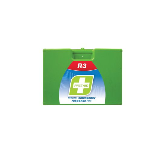 FastAid R3 Series Trauma Emergency Response Pro Kit Plastic Portable First Aid Kit