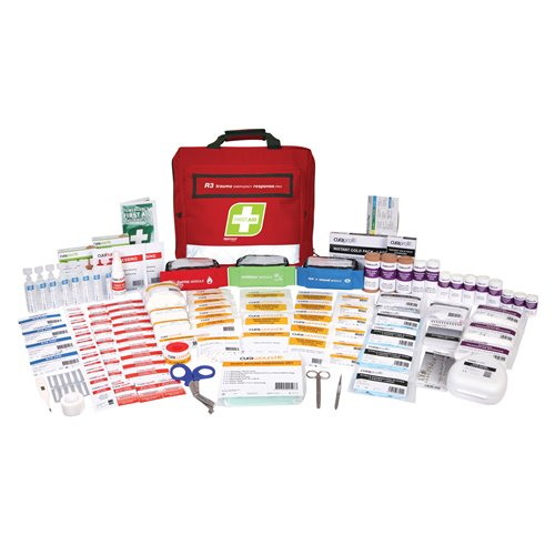 FastAid R3 Series Trauma Emergency Response Pro Kit Soft Pack First Aid Kit